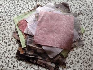 Leftover fabric squares