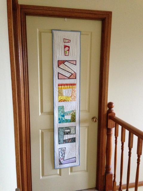 Isobel's door quilt