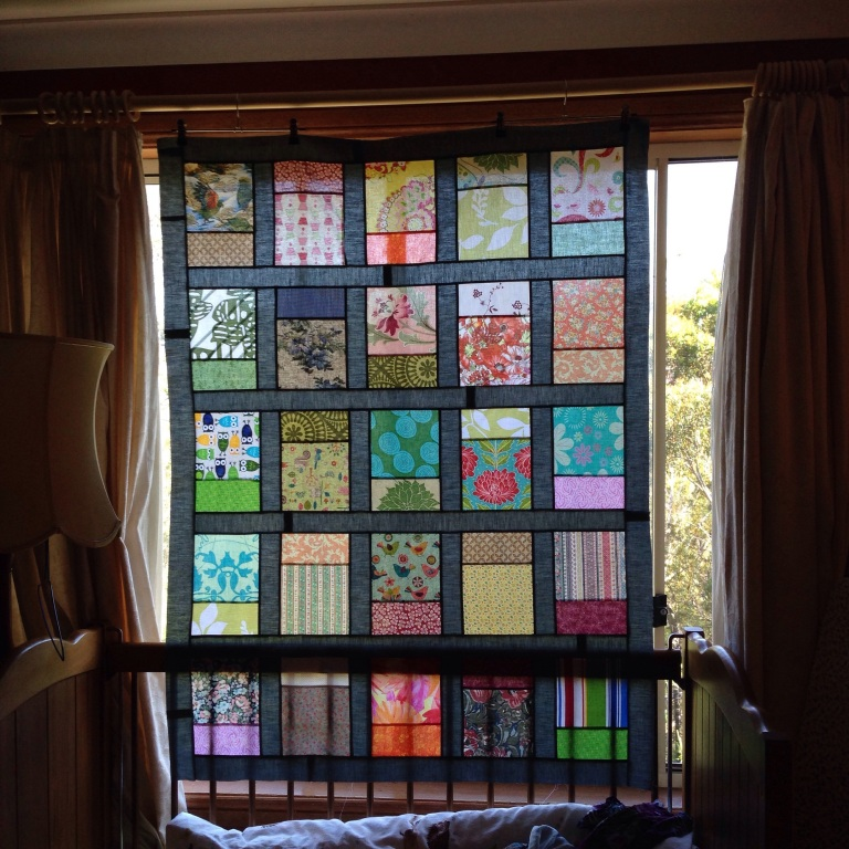 """Windows"" quilt top"