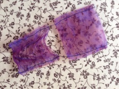 Melted organza bags