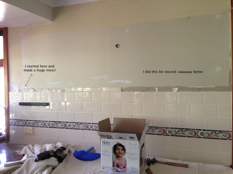 Tiles removed