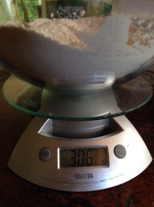 Measure your flour by weight