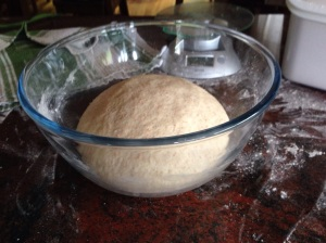 Dough doubled in size