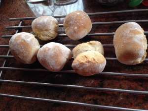 Rolls cooling on the rack