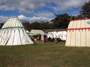 Period tents in someone else's campsite