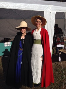 Isobel and I in medieval garb