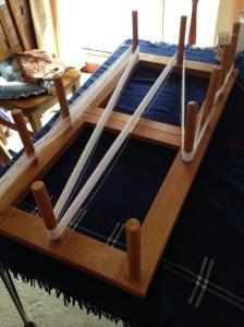 Winding the warp using a warping board