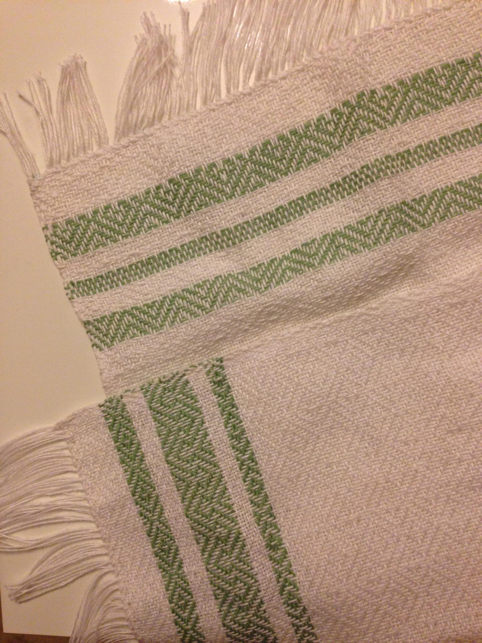 Sample off the loom
