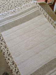 Linen and white towel