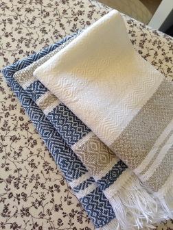 Folded tea towels
