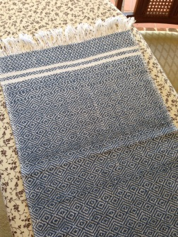 Blue towel, finished