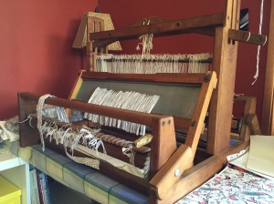Four shaft loom on my craft table