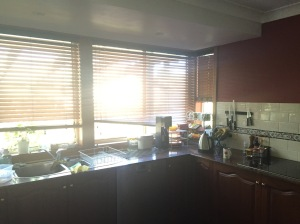 Kitchen sink window blinds