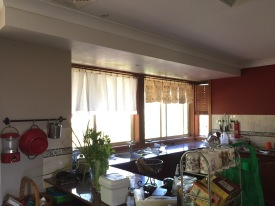 Wider view of the kitchen