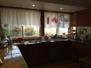 Kitchen curtains wide view