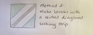 Method Two - a diagonal sashing piece