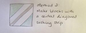 Method Two - a diagonal sashing piece