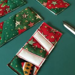 Trimmed gift tag