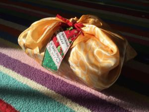 Furoshiki wrapped present