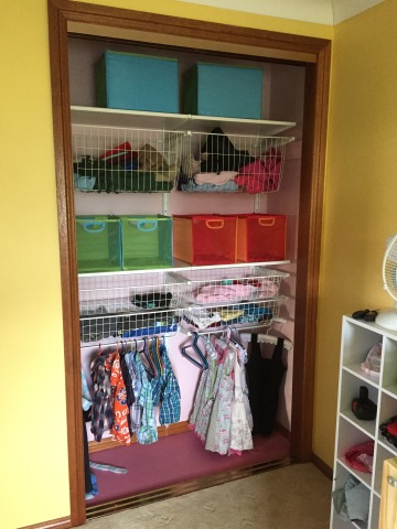 Finished wardrobe